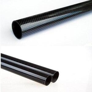 Image 2 - 4Pcs 3K Carbon Fiber Ronde Buis Plain Glossy Lengte 500Mm Hoge Hardheid Od 8Mm 10Mm 12Mm 16Mm 20Mm 25Mm 30Mm