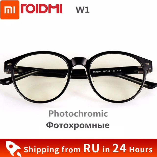 New Xiaomi Mijia ROIDMI W1 Anti blue rays Photochromic Protective Glass Ear Voice Detachable Eye Protector Good Eyes Glass