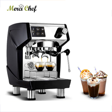 ITOP Semi-automatic Coffee Maker Stainless Steel Commercial Italian Espresso Machine 15Bars Cafe 220V