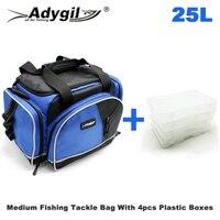 Adygil متوسطة حقيبة صيد سمك ث/4 متوسطة فائدة صناديق حقيبة الصيد