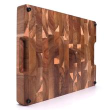 EXTRA LARGE Cutting Board, Rectangle End Grain Butcher Block, Kitchen Chopping Boards, Acacia Wood, 18 x 12 x 1.4 Inch
