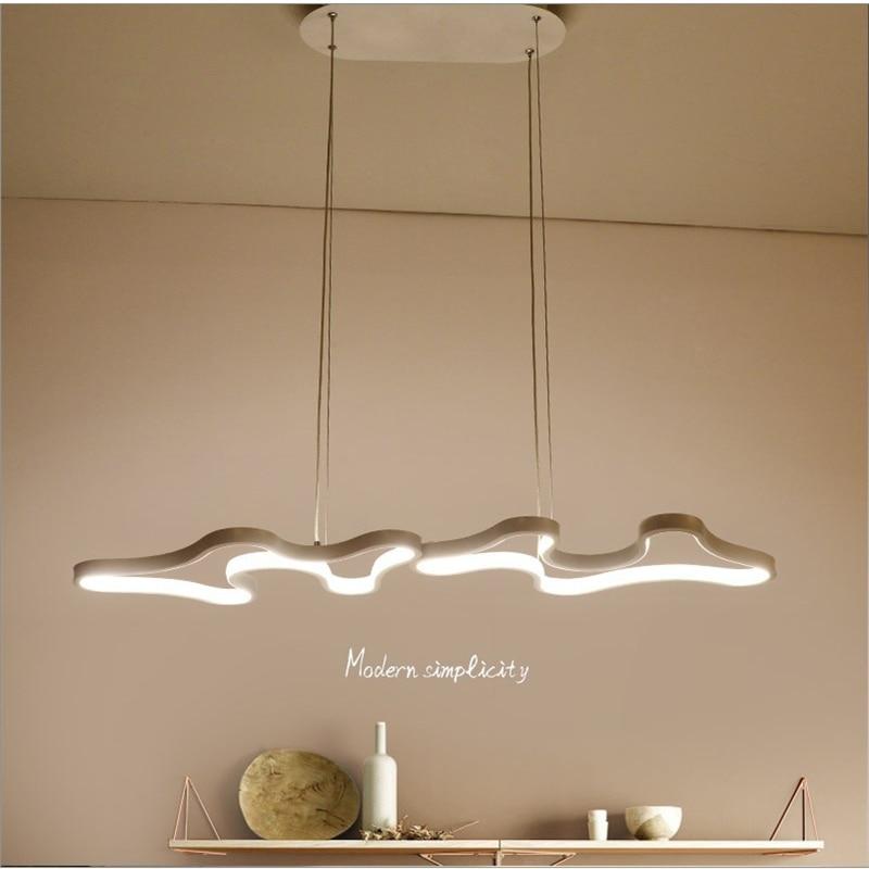 2019 Modern minimalist led irregular graphic acrylic chandelier dining room living room bedroom study creative lighting Pendant Lights Lights & Lighting - title=