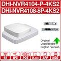 DH 4K POE NVR NVR4104-P-4KS2 NVR4108-8P-4KS2 с 4/8ch PoE h.265 видеорегистратор Поддержка ONVIF 2,4 SDK CGI с логотипом.