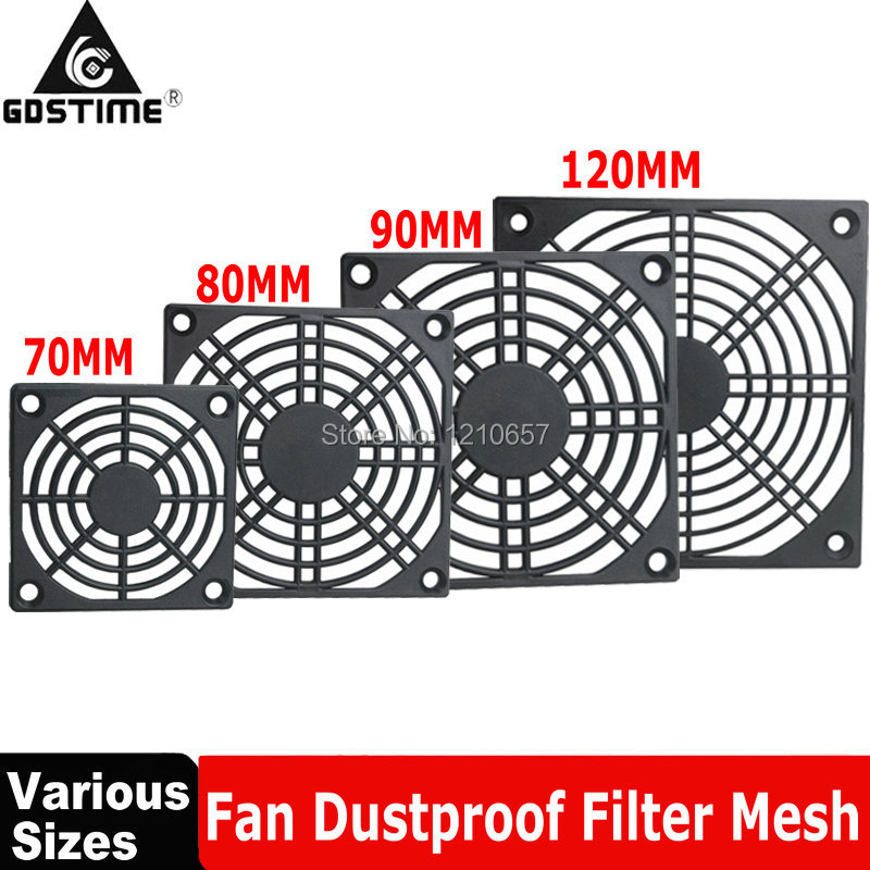 5Pieces Gdstime Computer Mesh 40mm 50mm 60mm 70mm 80mm 90mm 120mm PC Fan Dust Filter 4cm 5cm 6cm 7cm 8cm 9cm 12cm