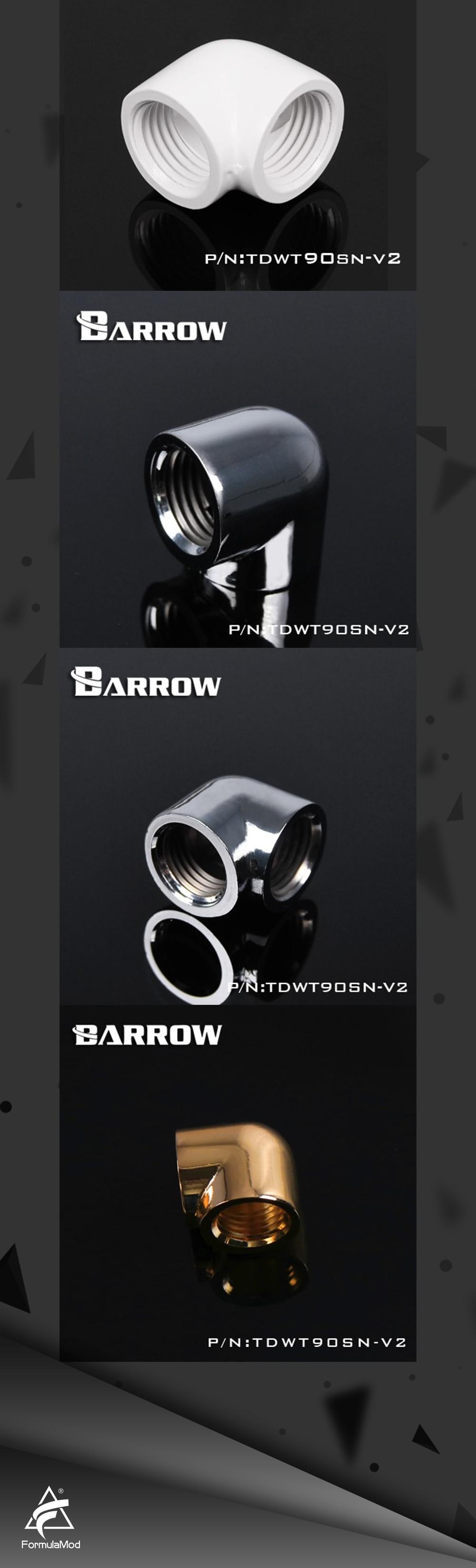 Barrow double internal G1/4'' thread 90 degree Fitting Adapter water cooling Adaptors water cooling fitting TDWT90SN-V2