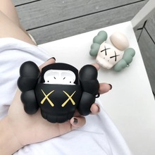 For AirPod 2 Case 3D Lovely Black Bear Cartoon Soft Silicone Wireless Earphone Cases Apple Airpods Cute Cover Funda