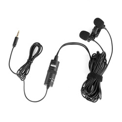 BY-M1DM Mic Phone Lavalier Camera Microphone Lapel condensor Mic for xiaomi Collar iPhone Xs X Canon DSLR PK Rode