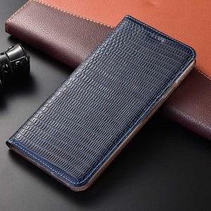 Image 1 - מגנט טבעי אמיתי עור עור Flip ארנק ספר טלפון מקרה כיסוי על לxiaomi Redmi הערה 9 S 9 פרו מקסימום Note9 S Note9s 64 GB