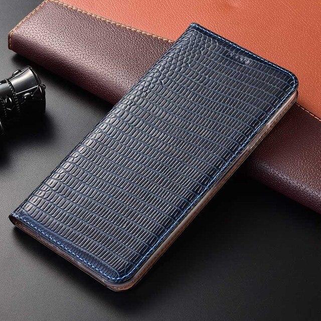 מגנט טבעי אמיתי עור עור Flip ארנק ספר טלפון מקרה כיסוי על לxiaomi Redmi הערה 9 S 9 פרו מקסימום Note9 S Note9s 64 GB