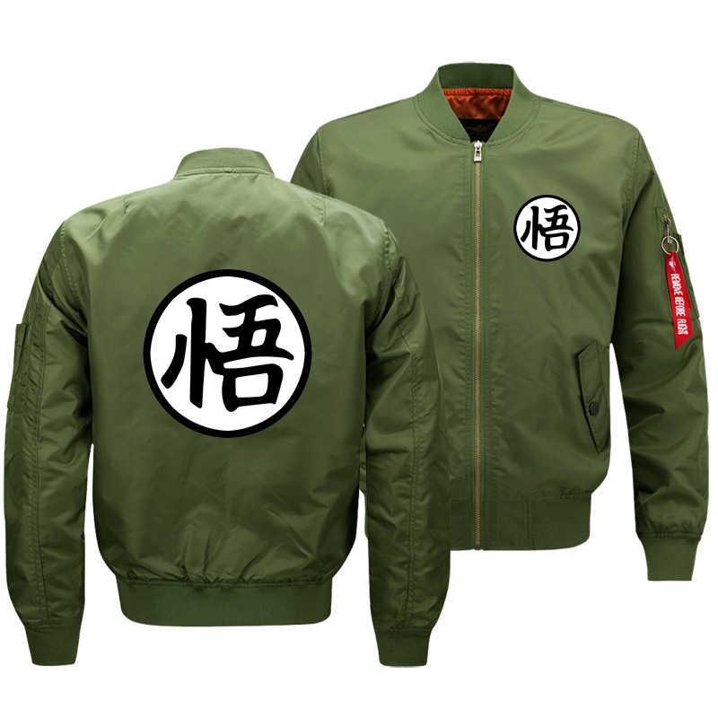 Cloudstyle New Mens Thick Mens Jacket Dragon Ball Goku Pilot Bomber Jacket Thicken Coats 3D Printed Men Overcoat Anime Jacket
