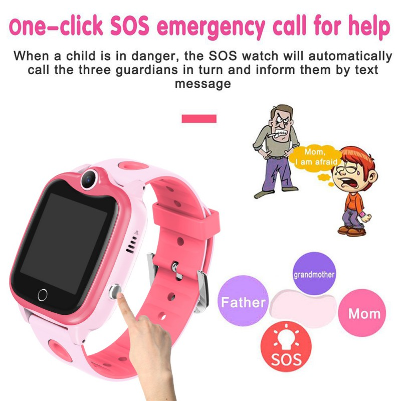 Watch Girl Boy IP67 Waterproof Digital Children Wristwatch SOS Call D06 Kid SmartLocator Anti Loss Monitor