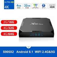 X96 Max Android 8.1 Smart TV BOX  Amlogic S905X2 LPDDR4 Quad Core 4GB 32GB 64GB 2.4G&5GHz Wifi BT 1000M 4K Set top tv box