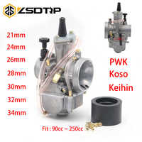 ZSDTRP 2T/4T Motor Motorrad Keihin Koso PWK Motorrad Vergaser Carburador 21 24 26 28 30 32 34 mm Mit Power Jet