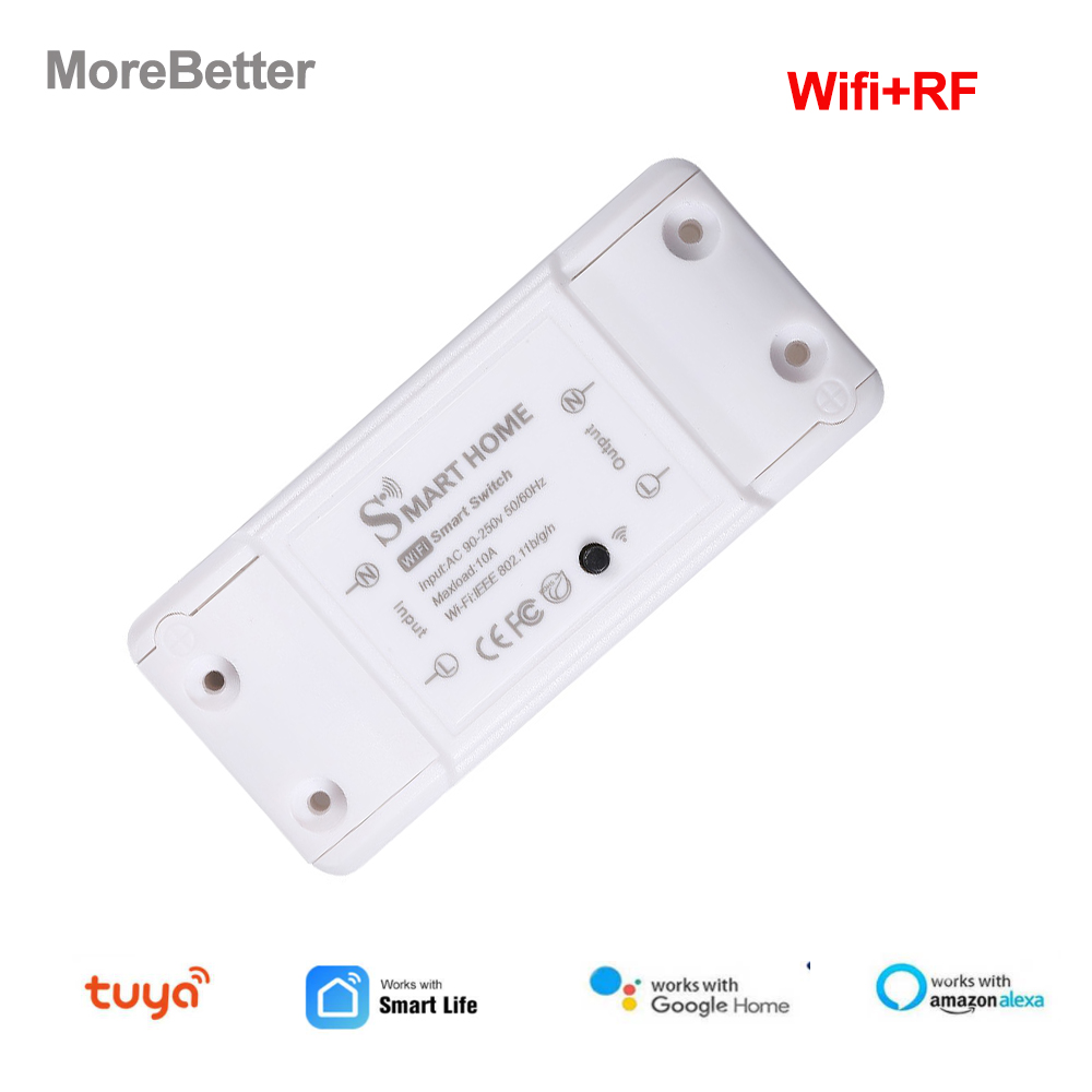 Tuya Wifi Interruptor Switch Smart Wifi Circuit Breaker RF 433 Timer DIY Switch Via Smart Life APP Work with Alexa Google Home