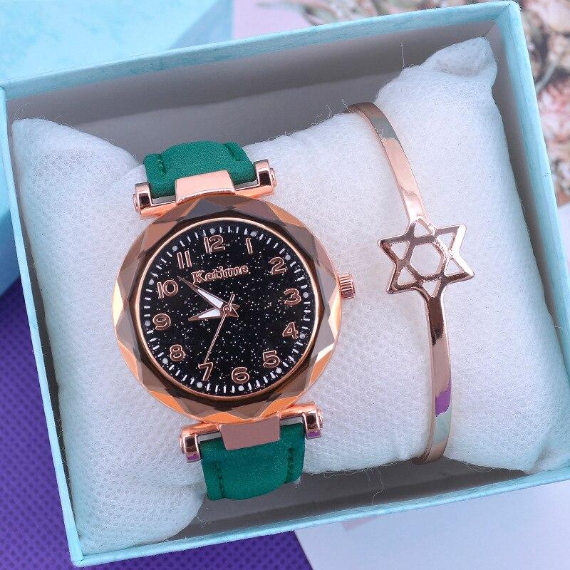 Casual Women Watches Starry Sky Quartz Wristwatch Female Clock Leather Fashion Ladies Wrist Watches reloj mujer relogio feminino 4