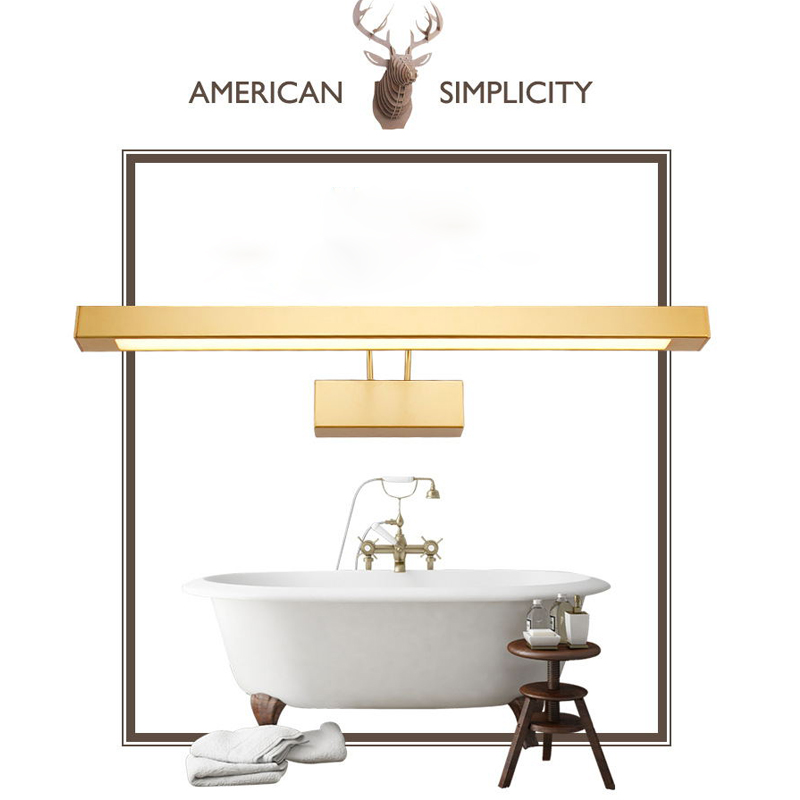 ECOBRT Led Bathroom Vanity Lamp Modern Wall Light Waterproof Mirror Bath Lighting 9w 12w 14w 16w Gold 1 in LED Indoor Wall Lamps from Lights Lighting