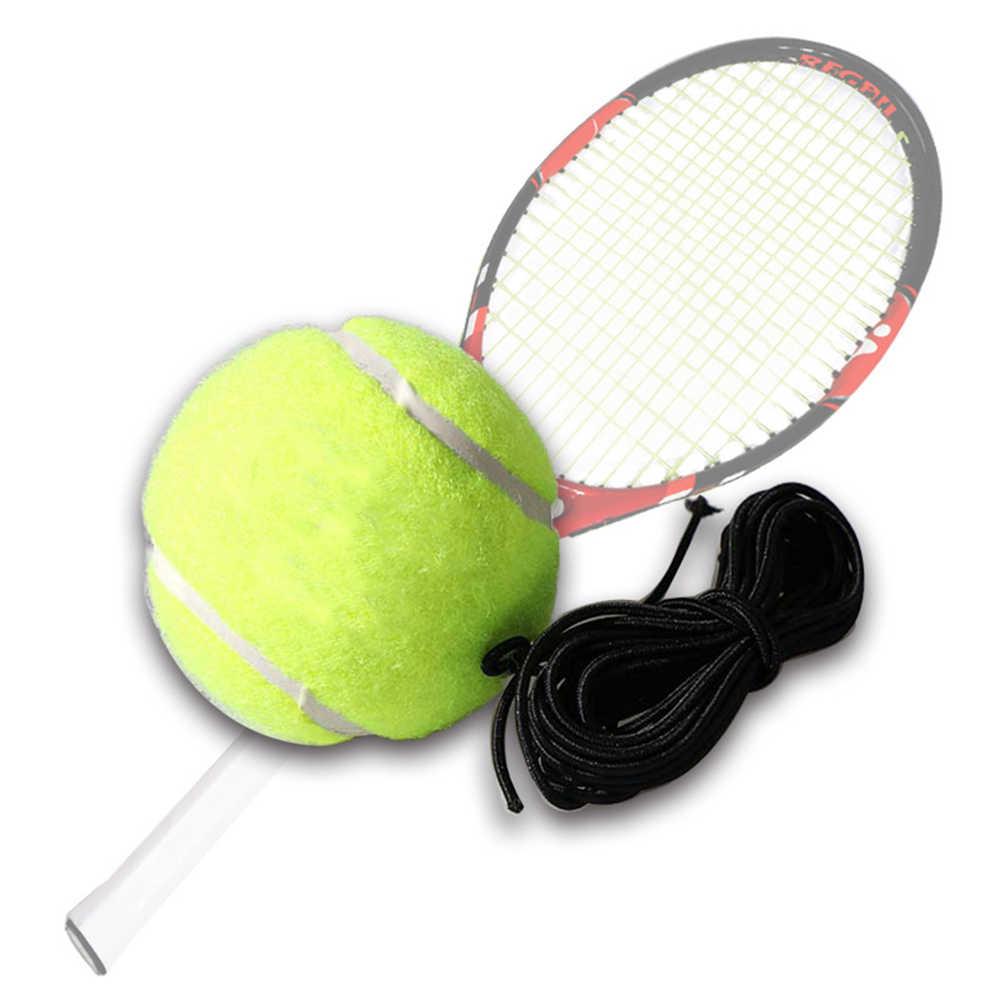 Profesyonel tenis eğitim topu ile 4m elastik halat ribaund uygulama topu dize taşınabilir tenis tren topları