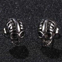 Men Punk Skull Earrings Ear Studs For Women Fashion Jewelry Stainless Steel Small Stud Earings Rock Gifts Drop shipping