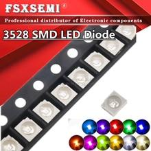 100 шт. 1210 3528 SMD СВЕТОДИОДНЫЙ диоды для подавления переходных скачков напряжения светильник RGB набор для маникюра в розовой коробке белый цвет...