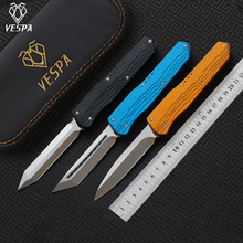 VESPA Version Knife M390 blade 7075Aluminum+TC4 handle,camping survival outdoor EDC hunt Tactical tool dinner kitchen knife