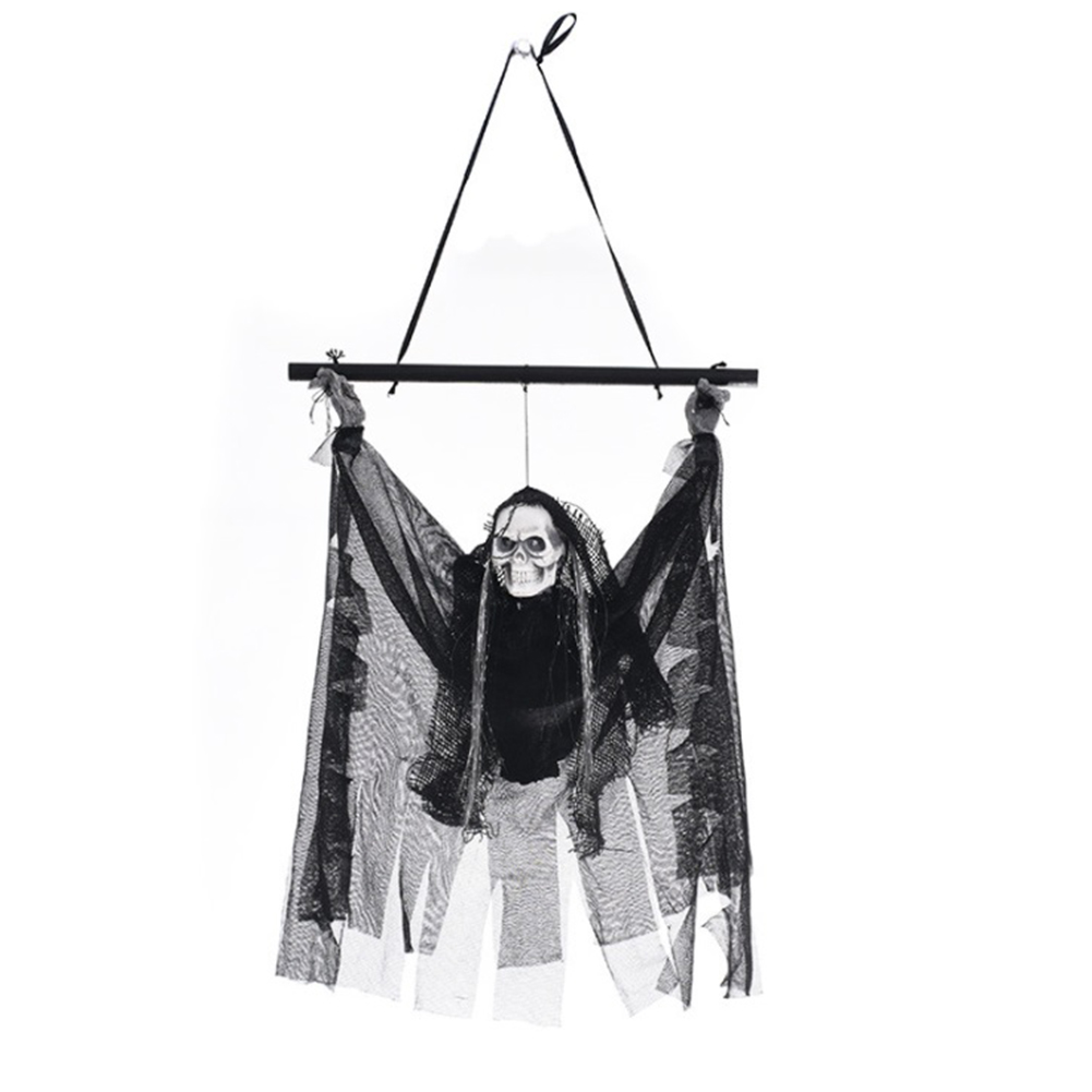 Halloween Haunters Small Hang Ghost Electric Horror Props Decorations Skeleton Pendant Decorations for Bar KTV Haunted House in Party DIY Decorations from Home Garden