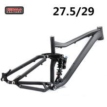 HIMALO Cuadro de bicicleta de montaña DH, suspensión completa, 29ER 27,5er, aleación de aluminio, accesorios para ciclismo de descenso