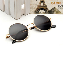 Europe and the United States retro small round sunglasses me