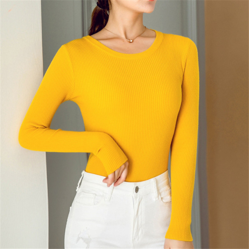 Women Clothes Mujer Sweaters Autumn New Slim Long-sleeved Base Wool Sweater Women Autumn And Winter Pullover Sweater Women