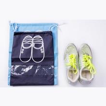 100pcs/lot  Waterproof Package Shoe Pocket storage organize bag Non-woven fabric Draw pocket Drawstring Bags Toiletry Bag Case