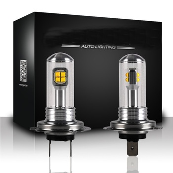 цена на NOVSIGHT 2Pcs H7 Led Bulb Fog Lights 3000LM 6000K 12V White DRL Daytime Running Car Lamp Auto Light D45