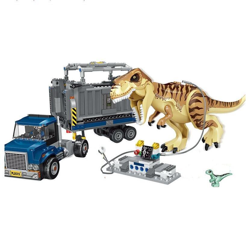 Jurassic World 2 T Rex Transport blocs de construction Indominus dinosaure 75933 jurassique dinosaure jouets briques pour enfants cadeau