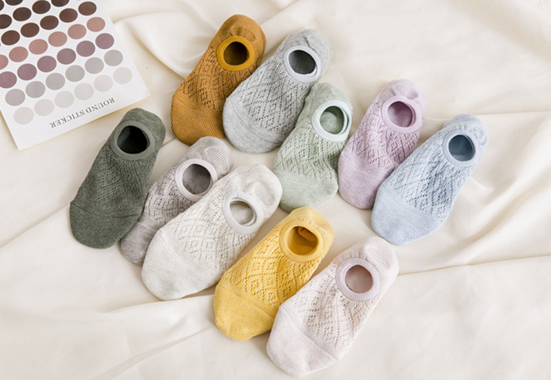Anti Slip Lace Breathable Socks 5 Pairs