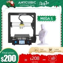 ANYCUBIC Mega S 3D Máy In Nâng Cấp Chất Lượng Cao Extrude Plus Kích Thước Màn Hình Cảm Ứng TFT Màn Hình Máy Tính Để Bàn Giá Rẻ 3d Bộ Máy In impresora 3d