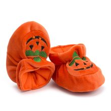 Christmas Baby Shoes Newborn Boy Girl Toddler Newborn Toddler Baby Girls Boys Halloween Flock Pumpkin Soft Sole Casual Shoes(China)