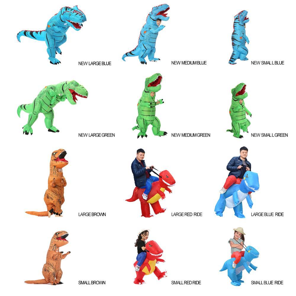 Купить с кэшбэком T REX Inflatable Dinosaur Costume for Adult Kids Men Women Halloween Costume Dino Cosplay  Cartoon Anime Party