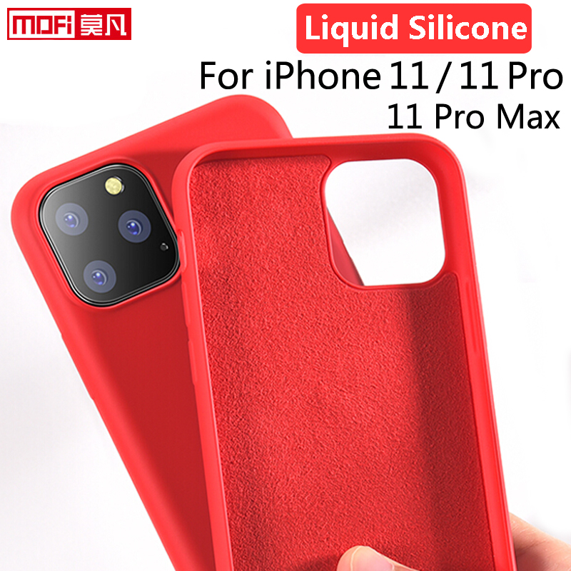 For iPhone 11 Pro Case Liquid Silicone Gel Rubber iPhone 11 Smooth Protective Mofi Official for
