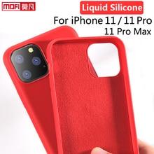 Funda de silicona líquida para iPhone 11 Pro, protector suave de Mofi oficial para Apple iPhone 11Pro Max