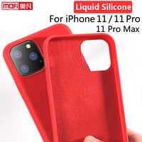 Pour iPhone 11 Pro coque Silicone liquide Gel caoutchouc iPhone 11 lisse protection Mofi officiel pour Apple iPhone 11Pro Max housse