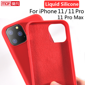 Image 1 - עבור iPhone 11 פרו מקרה נוזל סיליקון ג ל גומי iPhone 11 חלק מגן Mofi הרשמי עבור Apple iPhone 11Pro מקסימום כיסוי