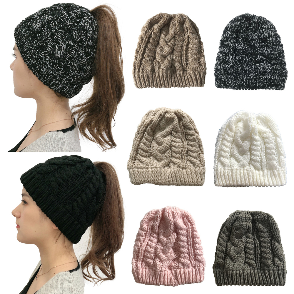 Brand New Mens Womens Chunky Woolly Warm Knitted Beanie Winter Ribbed Soft Hat