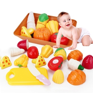 1 Set Kitchen Pretend Toy Fruits Vegetables Cutting Toys for Children's Educational Baby Kids Gift Pretend Play Cutlery Toys Set