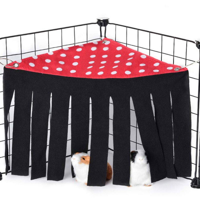Pets Hideout Hamster Tassels Hideaway Pet Tent Tassel Corner Cage For Guinea Pig Ferret Chinchilla Hedgehog Rat Squirrel Rabbit