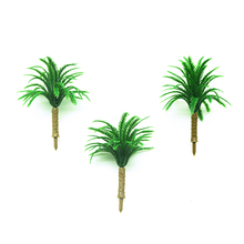 50pcs 6cm height model palm trees toys scale miniature coconut plants for diorama seashore rainforest scene making layout kits