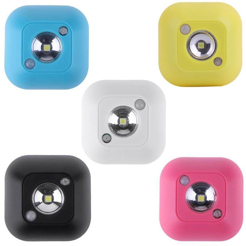 LED Mini Body Sensor Night Lamp Novelty Light Infrared Motion Control Wireless For Bathroom Bedroom Hallway Stair Cabinet