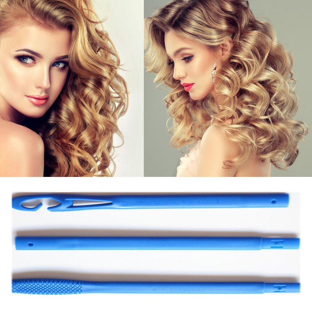 18pcs/55cm/30cm Magic Hair Curlers Rollers Hair Curler Wave Formers Spiral Silicone Hair Curler Hair Curler Iron Plastic D