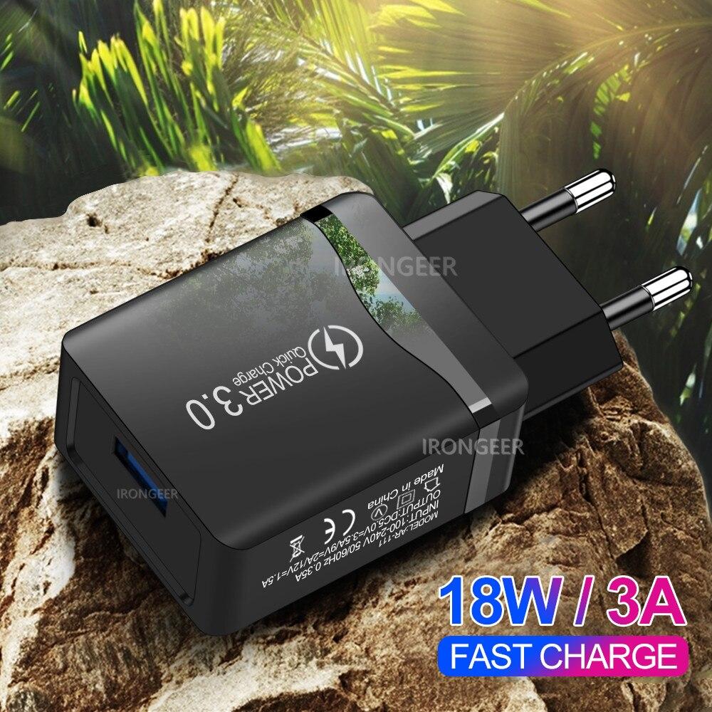 18 Вт Быстрая зарядка 4,0 3,0 USB зарядное устройство для телефона Универсальный дорожный настенный адаптер быстрой зарядки для Xiaomi iPhone Samsung Huawei|Зарядные устройства|   | АлиЭкспресс