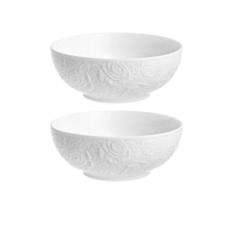 Набор салатников Elan gallery, Белые розы, 2 предмета, белый набор салатников elan gallery белое кружево 2 предмета