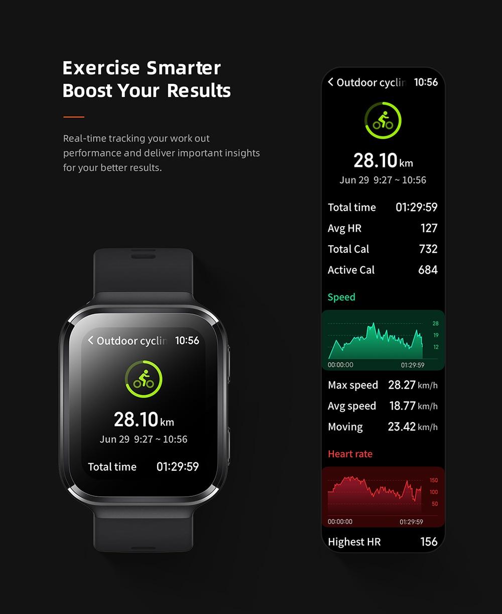 70mai Smart Watch Saphir Bluetooth GPS Sport Heart Rate Monitor 9