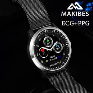 ES stokta Makibes BR4 ekg PPG akıllı saat ile elektrokardiyogram ekran kalp hızı kan basıncı akıllı bant spor izci