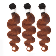 T1B/30 T1B/27 Ombre Hair Bundles Brazilian Brown Body Wave Human Hair Weave Bundles SOKU Honey Blonde Hair Extension Non-Remy amazing star t1b 99j 18 дюймов